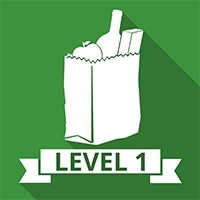 Level 1 Food Safety Retail Icon